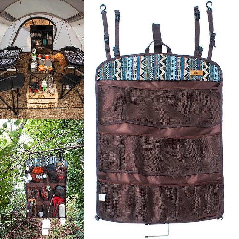 Горячая подвесная сумка для хранения портативная многофункциональная для дома настенная дверь открытый кемпинг MVI-ing - Цвет: Коричневый