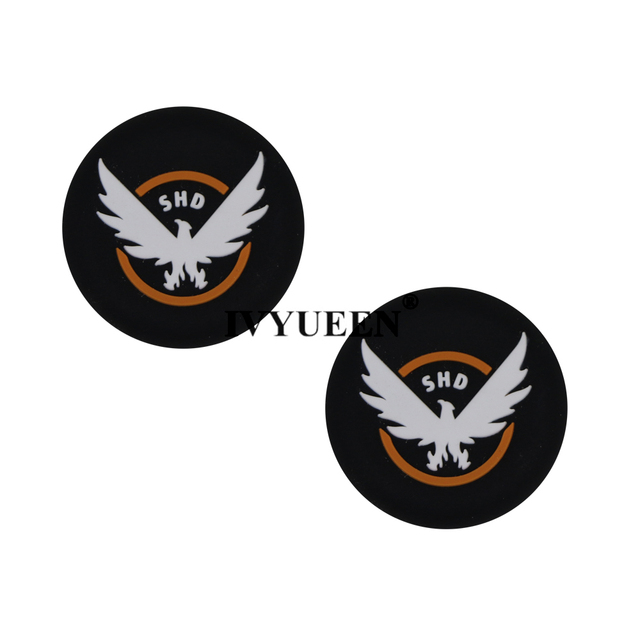 IVYUEEN 2 pcs Cat / Skull Print Silicone Joystick Thumbsticks Grip Caps for Dualshock 4 PS4 Pro Slim Controller for XBox One X S 4