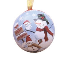 1Pcs Christmas Tree Pendant Party Home Decoration Horse Iron Ball Box Candy Child Gift