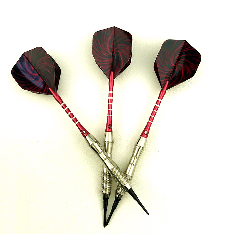 3pcs Soft-tip Electronic Darts 18g Shaft Aluminum Alloy Rod Throwing Entertainment Game