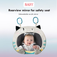 Rearview-Mirror Safety-Monitor Headrest Interiorback-Seat-Mirror Adjustable Wide-Angle