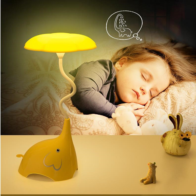 Novelty Elephant LED Night Light USB Rechargeable Touch Sensor Bedroom table lamp Baby Light Kids Toy Gifts Room Decor