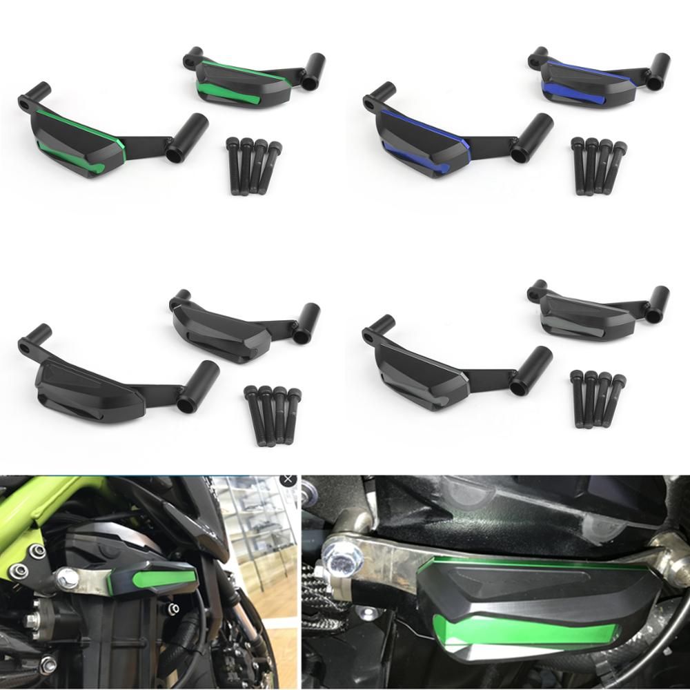 Artudatech For <font><b>Kawasaki</b></font> <font><b>Z</b></font> <font><b>900</b></font> <font><b>2017</b></font> Engine Guards Set Frame Sliders Crash Protector CNC Aluminum Motorcycle Slider Cover Parts image