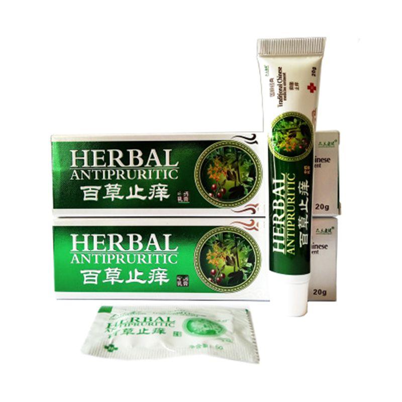 20g Natural Herbal Antibacterial Bacteriostatic Ointment Antifungal Dermatitis Psoriasis Eczema Itch Skin Disease Cream Q0KD