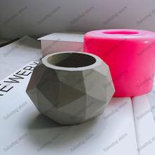 Геометрическая Алмазная форма цветочный горшок силиконовая для