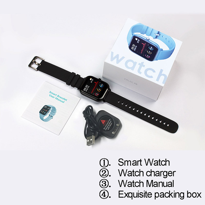 2020 Smart Watch Men Women Heart Rate Blood Pressure Monitor Bluetooth Connect Smartwatch Fitness for Android Watch Smart 5