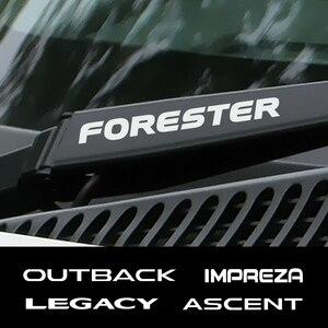 4PCS Auto Decor Window Wiper Decals Car Vinyl Stickers For Subaru Forester Impreza XV Ascent Legacy BRZ Outback WRX Accessories(China)