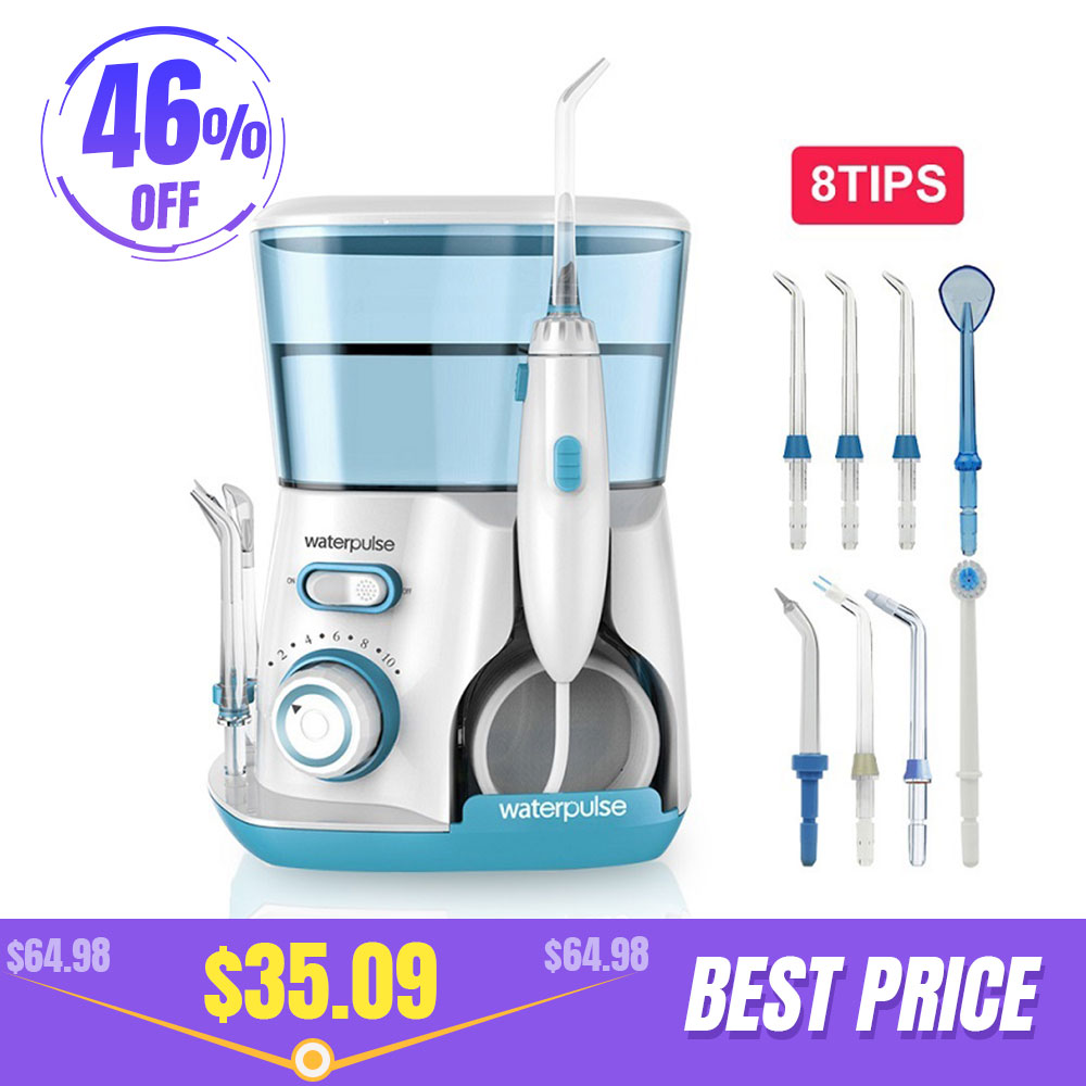 Image 1 - Waterpulse V300 8 Tips 800ml Oral Dental Irrigator Water Flosser Oral Hygiene Water Floss Dental Irrigato Flosser Water Flossing-in Oral Irrigators from Home Appliances