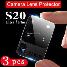 3 pçs lente da câmera para samsung galaxy s8 s9 s10e s10 lite mais s20 uitra protetor de tela do telefone vidro temperado câmera