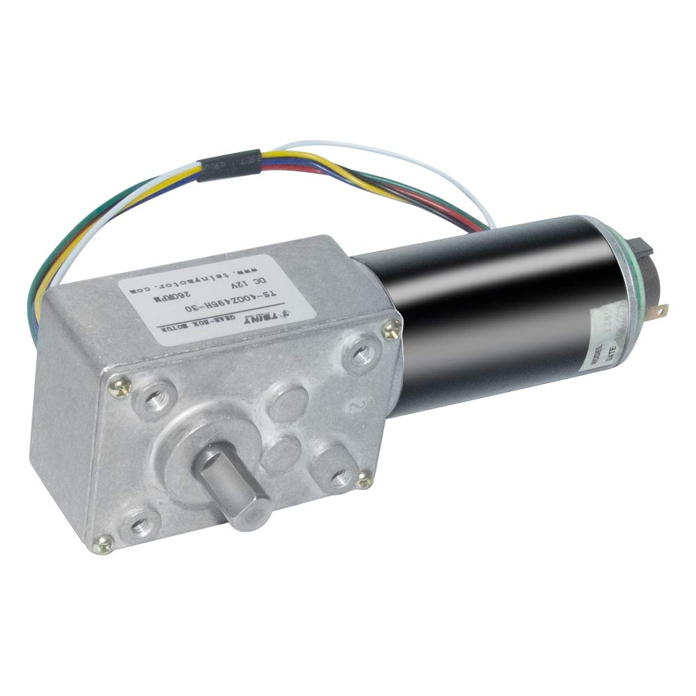 Low Speed DC 24V 27rpm 3D Printer Replacement Electric Gearbox Geared Motor