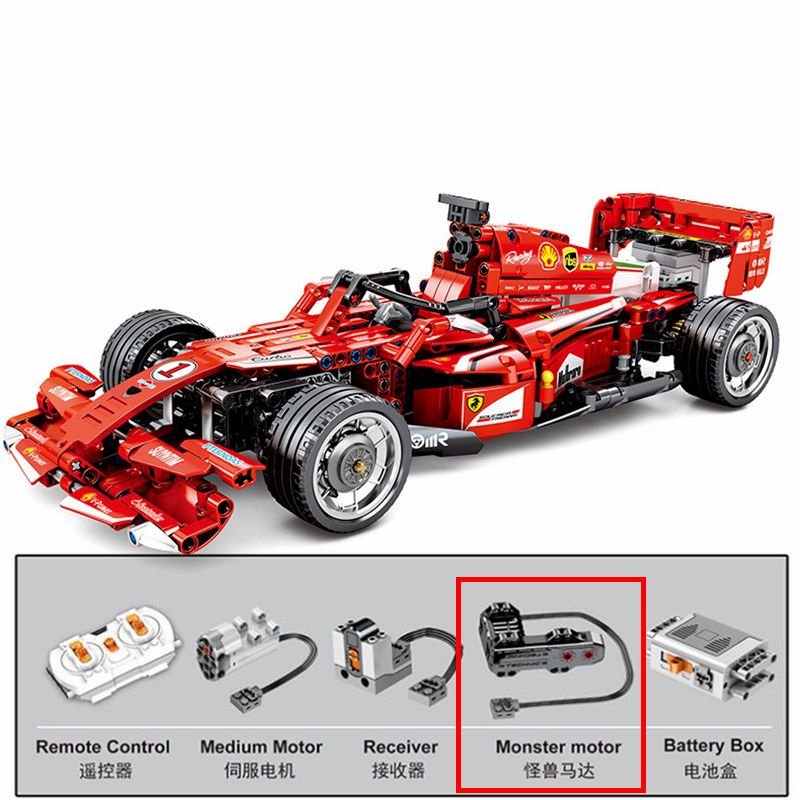 Technic Power Monster Motor RC Racer F1 DIY MOC Building Blocks Sets Bricks Model Kids Toy For Children Compatible 8287 image