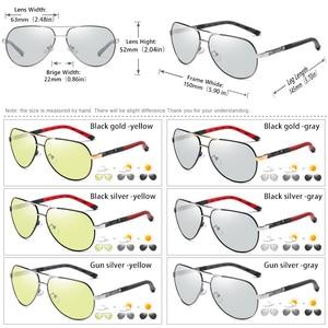 Image 5 - Mode Design Pilot Sonnenbrille Männer Polarisierte Sicher Fahren Gläser Photochrome Frauen Männlichen Fahrer Brillen gafas de sol hombre