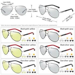 Image 5 - ファッションデザインパイロットサングラス男性偏光安全運転メガネフォトクロミック女性男性ドライバーの眼鏡 gafas デ · ソル hombre