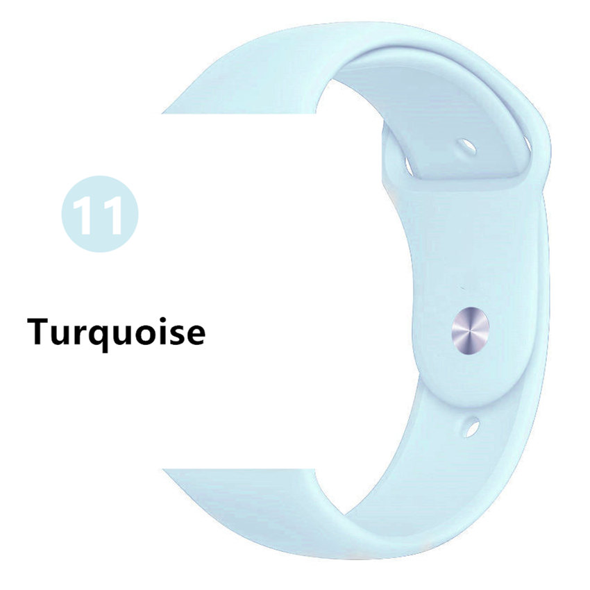 Ремешок для apple watch band 44 мм/40 мм iwatch band 5 4 42 мм 38 мм correa pulseira watch band для apple watch 5 4 3 браслет 44 мм - Цвет ремешка: Turquoise
