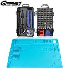 Gzerma 116 In 1 Precisie Schroevendraaier Set Met Reparatie Isolatie Pad Professionele Telefoon Reparatie Tool Kit Voor Iphone Xiaomi Laptop