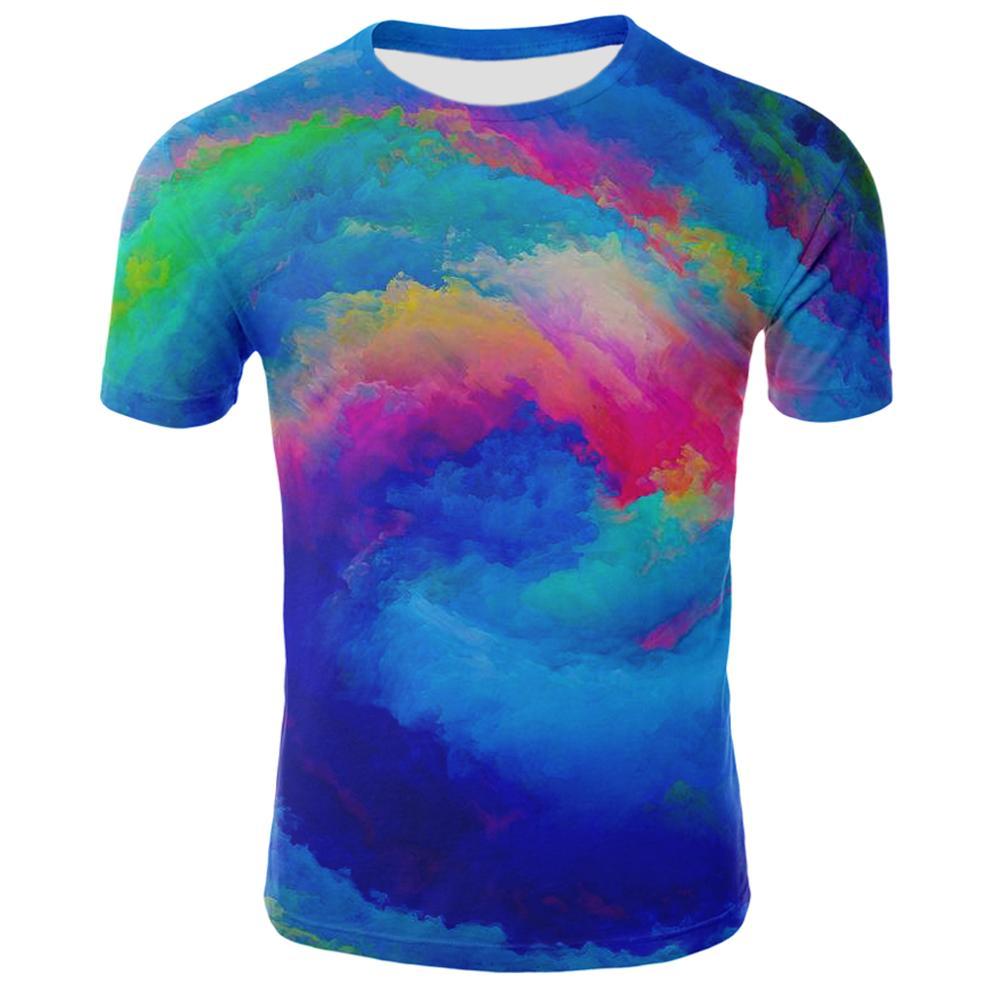 Разноцветная вихревая футболка с 3d принтом, повседневная одежда для мужчин, цветная головокружная водоворота, забавная куртка в стиле