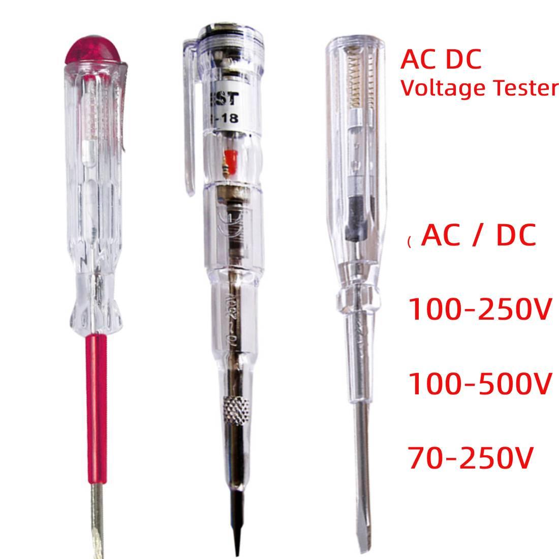 AC/ DC 100-250V/ 100-500V/ 70-250V di Tensione del Tester Della Penna rivelatore di Indotta Tester Elettrico Cacciavite Sonda Con Indicatore di Luce