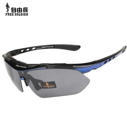 Открытый AutiUA спортивные очки для вождения поляризованные солнцезащитные очки военные тактические ездовые рыболовные очки оправа + 5 видов линз - 3
