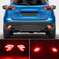 2 шт. Светодиодный отражатель для Mazda CX-5 CX5 2013 2014 2015 2016 для хвостовой части автомобиля светильник заднего бампера светильник задний противоту...