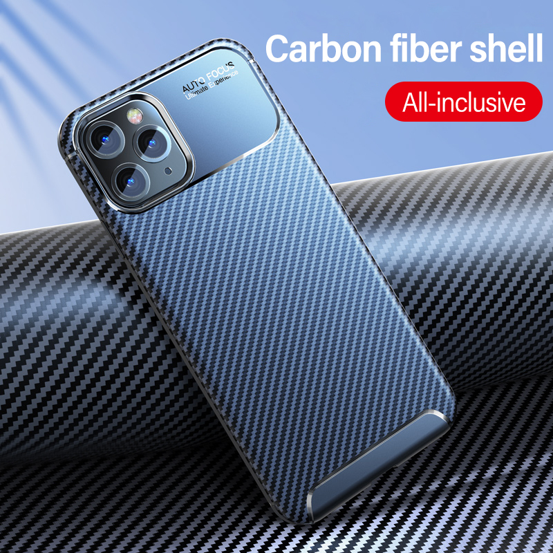 Ultra-thin Carbon Fiber Silicone Phone Case For iPhone 11 Pro Max SE XSMax XR XS X 8 7 6s 6 Plus Luxury Camera Protection Cover