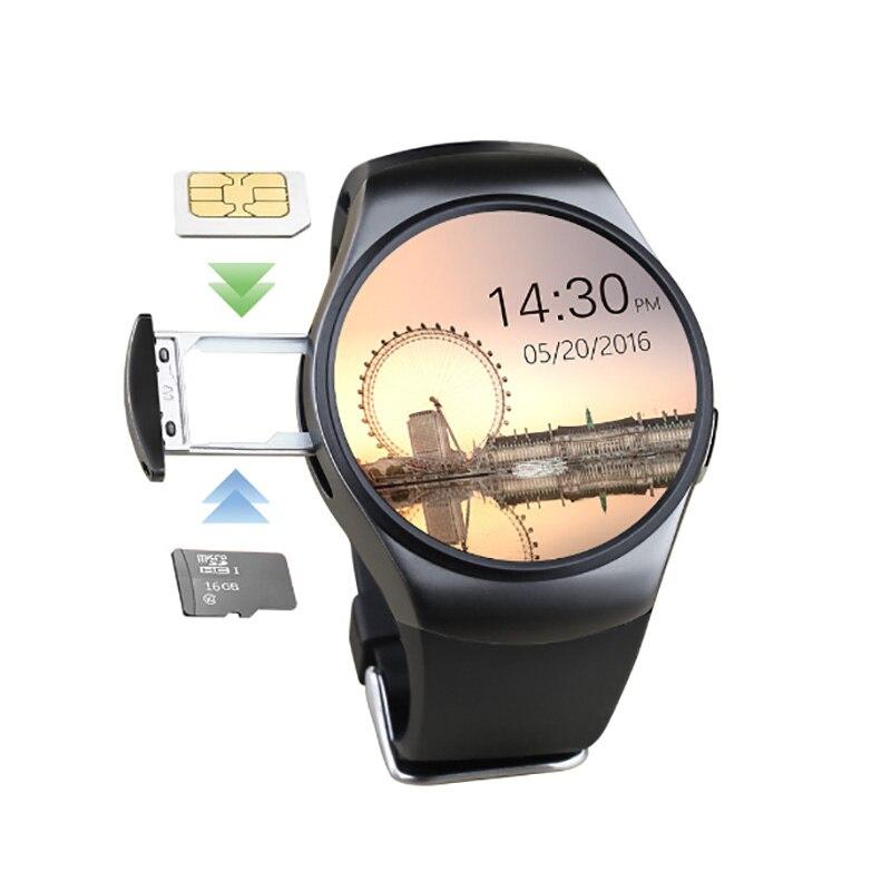 KW18 montre intelligente prise en charge SIM TF carte Smartwatch téléphone fréquence cardiaque Fitness activité Tracker pour Apple Gear S2 Huawei Xiaomi