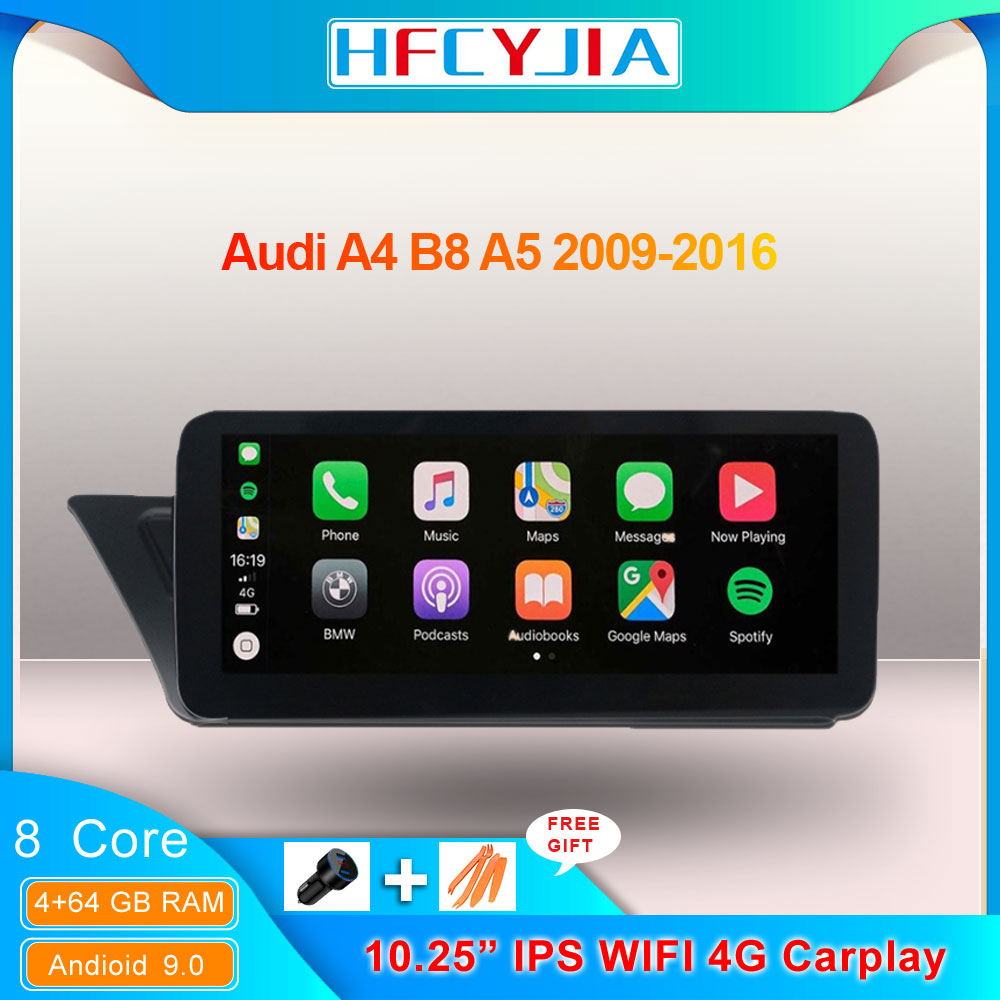 8 Core Android Car Multimedia Stereo For <font><b>Audi</b></font> A4 B8 <font><b>A5</b></font> <font><b>Sportback</b></font> 09-16 WIFI 4G LTE Wireless Carplay BT IPS Touch Screen GPS Navi image