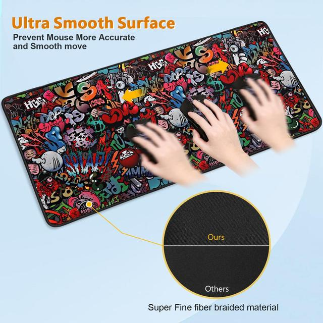 Gaming Mouse Pad Gamer Mousepad XXL Mouse Mat Large Desk Mat Computer Keyboard Game Play Mat Mause Carpet Gaming Mouse Pad 3