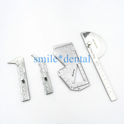 Nasal caliper Nasal measuring scale stainless steel carved plate asal plastic surgery instruments