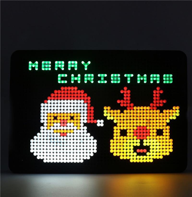 LED Jigsaw Puzzle DIY Shining Light Nailboard Light Boxes Battery LED Colorful Light House Party Decor Christmas Gift