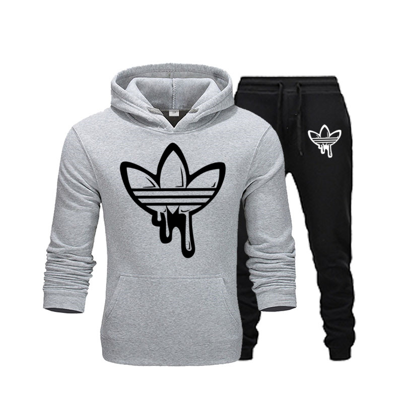 2019ATMS Brand Clothing Autumn And Winter New Men's Hoodies Fleece Warm Mixed Cotton Fashion Casual Jogging Sports Suit