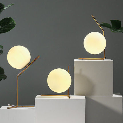 modern glass table lamps nordic simple bedroom bedside reading desk lamp home decoration led table lights e27 lamparas lighting|Pendant Lights| |  - title=