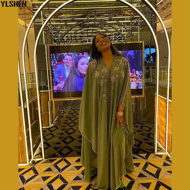 Length 150cm Africa Dress African Dresses for Women Dashiki Diamond Beaded Traditional Boubou African Clothes Abaya Muslim Dress 09