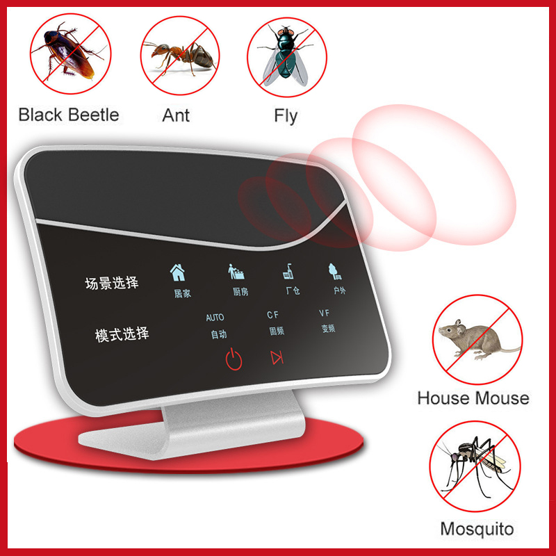 Intelligent Touch Screen Repellent Mousetrap Ultrasonic Pest Repeller Insect Killer For Cockroaches Ants Flies Mosquitoes Mouse