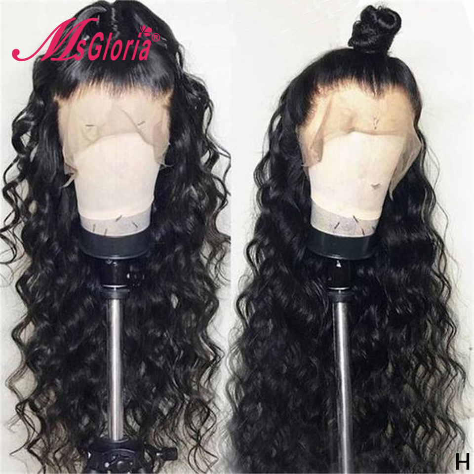 Lace Front Human Hair Wigs With Baby Hair 130% Loose Wave Brazilian Remy Pre Plucked 13X4 Lace Front Wig For Women Bleached Knot