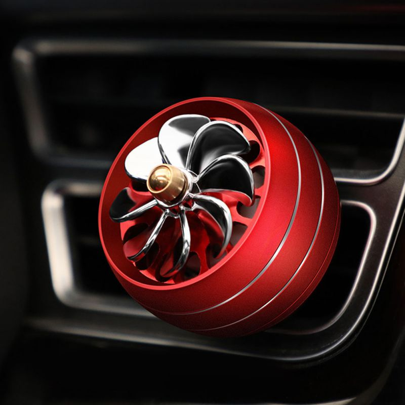 Car Ornament Aroma Perfume With LED Light Diffuser Automobiles Decoration Vents Outlet Fragrance Clip Air Freshener