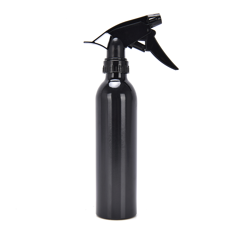 1pc <font><b>250ML</b></font> <font><b>Spray</b></font> <font><b>Bottle</b></font> High Grade Aluminum Water <font><b>Bottle</b></font> Trigger Hairdressing Tool For Hair Salons Makeup Lotion Silver/Black image