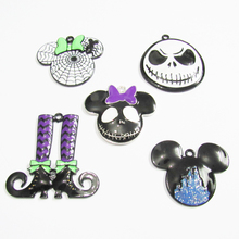 Necklace Halloween-Pendant for Chunky Kids Wholesale Witch-Shoes/minnie Newest All-Enamel