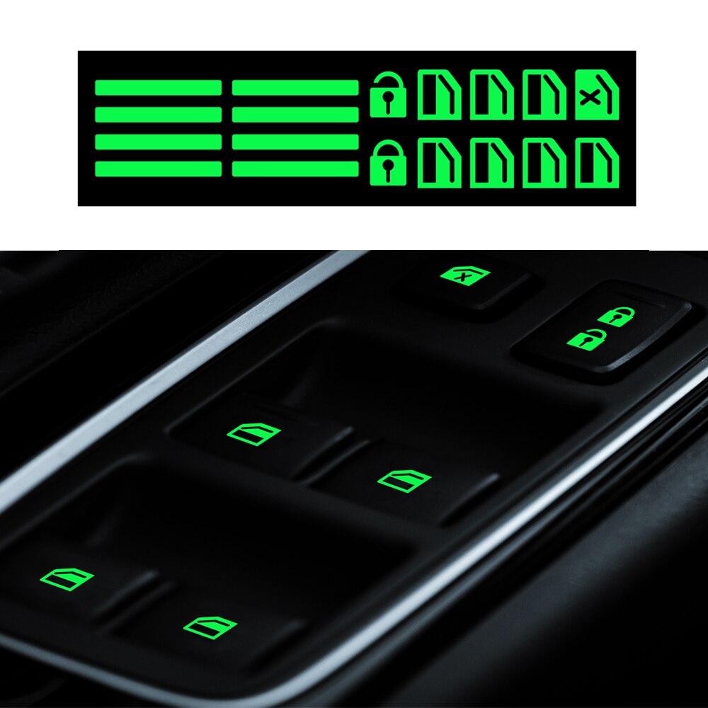 For Volkswagen Renault Nissan Toyota Honda Ford Mitsubishi Kia Hyundai Chevrolet Car Door Lift Window Luminous Button Sticker