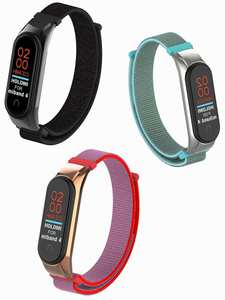 Nylon-Strap Mi-Band Colorful Xiaomi 4-Bracelet 3-4 for E-ZONE 4-Belt