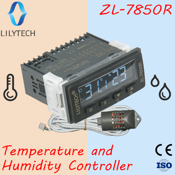 ZL-7850R, Super long sensor cable, Super high humidity and temperature controller, for swiftlet, Incubator with RS485, Lilytech