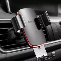 Baseus-Sostenedor del teléfono para la salida de aire del coche, montaje con gravedad bloqueda, universal, para iPhone 11, Pro, X, Xs, 7