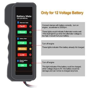 Image 4 - OBDMONSTER 12V Car Battery Tester Vehicle Alternator Test 12 Volt Battery Check Diagnostic Tool for Automobile and Motorcycle