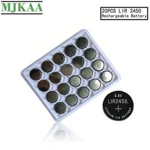 MJKAA LIR2450 аккумуляторные батарейки для зарядки 1000 раз литиевые монеты батарея заменена CR2450