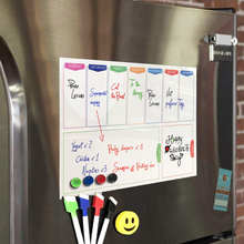 Magnet Calendar Whiteboard Kitchen Fridge Weekly Drawing Plan Flexible Kids A3