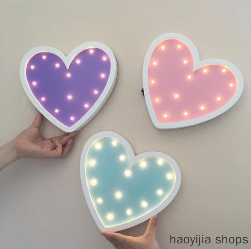 Новое украшение стены комнаты девушки Ins креативный любимый светодиодный светильник украшение стены моды