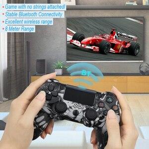 Image 2 - Mando inalámbrico Bluetooth para Sony PS4/PS3, mando con cable USB para Dualshock 4, Joypad para PlayStation 4