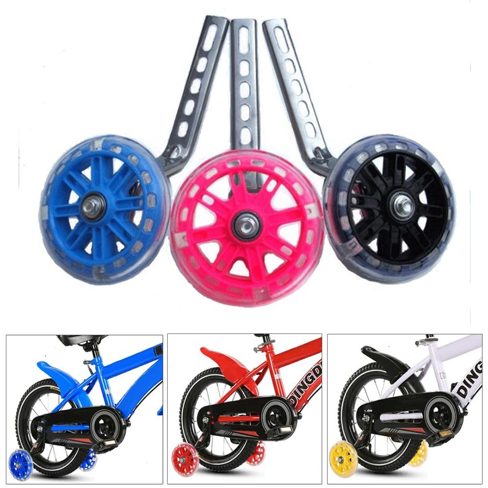 "2PC Universal Kids Bike Stabilisers Wheels learning For 12/""-20/"" Cycle Bikes LED"