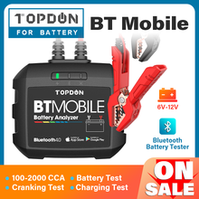 Cranking-Analyzer-Tool Battery-Monitor Auto-Charger Bluetooth Mobile TOPDON Wireless