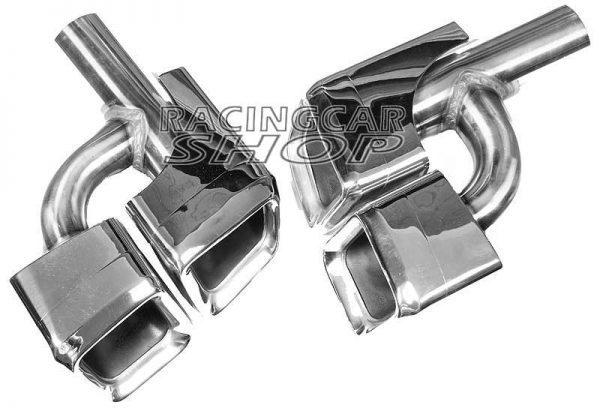 AMG E63 STYLE EXHAUST TIPS DUAL TIP for MERCEDES BENZ W212 C207 E-CLASS E300 E350 E500  M108W 5