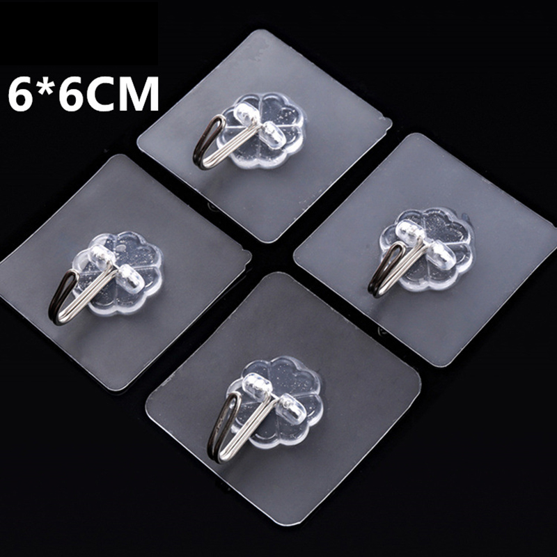 Transparent Strong Self Adhesive Door Wall Hangers Hooks For Silicone Storage Hanging Kitchen Magic Bathroom Accessories